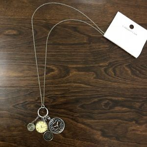 New Clock faced fashion necklace